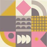 Geometrisches abstraktes Muster Vektoroberfl?chenmosaikdruck stockbild