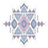 Geometrisches aztekisches Muster Stammes- Tätowierungsart kann für Gewebe, Yogamatten, Telefonkästen, Wolldecke verwendet werden Stockbild