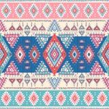 Geometrisches aztekisches Muster Stammes- Tätowierungsart kann für Gewebe, Yogamatten, Telefonkästen, Wolldecke verwendet werden Lizenzfreie Stockfotos