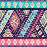 Geometrisches aztekisches Muster Stammes- Tätowierungsart kann für Gewebe, Yogamatten, Telefonkästen, Wolldecke verwendet werden Lizenzfreies Stockfoto