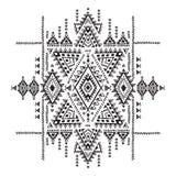Geometrisches aztekisches Muster Stammes- Tätowierungsart kann für Gewebe, Yogamatten, Telefonkästen, Wolldecke verwendet werden Stockfotos