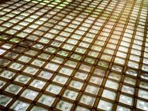Geometrisches beleuchtetes Flooriing Stockfoto
