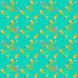 Geometrisches Blatt-nahtloses Muster Stockfotos