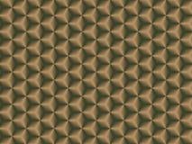 Geometrisches braunes Muster Nahtlose Beschaffenheit 3D Stockbilder