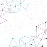 Geometrisches buntes Hintergrund Molekül und Stockbilder
