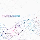 Geometrisches buntes Hintergrund Molekül und Lizenzfreie Stockbilder
