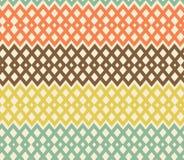 Geometrisches buntes nahtloses Muster. Filetarbeit struc Stockfotografie