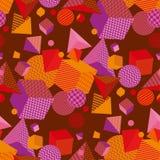 Geometrisches 3d formt Farbnahtloses Vektormuster lizenzfreie abbildung