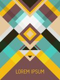 Geometrisches Design der Deckblatt-Planvektorschablone mit Dreiecken und Streifenmuster lizenzfreies stockfoto