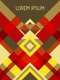 Geometrisches Design der Deckblatt-Planvektorschablone mit Dreiecken und Streifenmuster stockbild