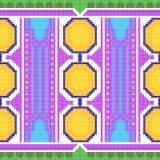 Geometrisches Design der Kreuzstich-Stickerei für nahtlose Musterbeschaffenheit lizenzfreie abbildung