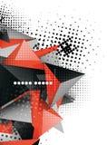 Geometrisches Design des Dreiecks 3d, abstrakter Hintergrund Stockbild