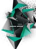 Geometrisches Design des Dreiecks 3d, abstrakter Hintergrund Stockfotografie
