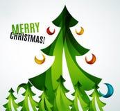 Geometrisches Design des Weihnachtsbaums Stockfoto