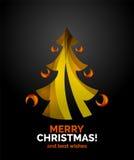 Geometrisches Design des Weihnachtsbaums Lizenzfreies Stockbild
