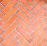 Geometrisches Design des Ziegelsteinbodens Lizenzfreie Stockfotos