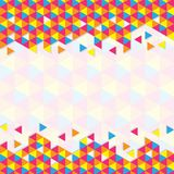 Geometrisches dreieckiges Muster Lizenzfreies Stockfoto