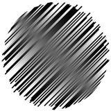 Geometrisches Element gemacht von den Linien Abstraktes einfarbiges Form isola Lizenzfreie Stockbilder