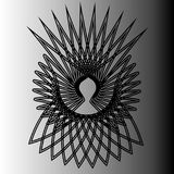 Geometrisches Emblem pentogramm Muster der Astrologie Lizenzfreie Stockfotos