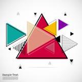 Geometrisches flaches Muster Lizenzfreie Stockfotografie