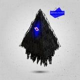 Geometrisches Fliegen-Monster des Spiel-3D Vektor Stockfotos