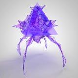 Geometrisches Fliegen-Monster des Spiel-3D Vektor Lizenzfreie Stockfotos