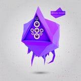 Geometrisches Fliegen-Monster des Spiel-3D Vektor Lizenzfreies Stockfoto
