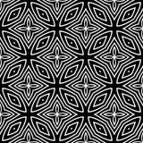 Geometrisches Futter des nahtlosen Schwarzweiss-Musters stockfoto