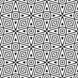Geometrisches Futter des nahtlosen Schwarzweiss-Musters Hintergrund, Quadrate lizenzfreie abbildung