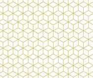 Geometrisches Gold des Vektors berechnet Linie Musters Lizenzfreie Stockfotos