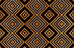 Geometrisches goldenes und silbernes Muster stock abbildung