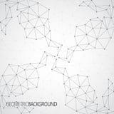 Geometrisches graues Hintergrund Molekül und Lizenzfreies Stockfoto