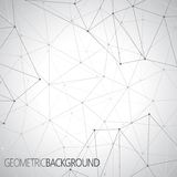 Geometrisches graues Hintergrund Molekül und Lizenzfreies Stockbild