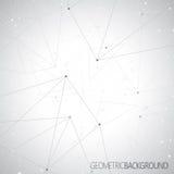 Geometrisches graues Hintergrund Molekül und Stockbild