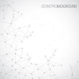 Geometrisches graues Hintergrund Molekül und Lizenzfreie Stockfotografie