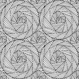 Geometrisches handgeschriebenes nahtloses Muster basiert auf der Linie und den Kreisen Lizenzfreie Stockfotos