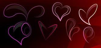 Geometrisches Herz 1 Stock Abbildung