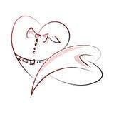 Geometrisches Herz 4 Stock Abbildung