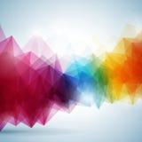 Geometrisches Hintergrunddesign des abstrakten Vektors. Lizenzfreies Stockfoto