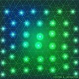 Geometrisches Hintergrundgrün Stockfoto