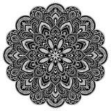 Geometrisches Kreiselement der Mandala, schwarz Lizenzfreie Stockfotos