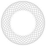Geometrisches Kreismuster Abstraktes Motiv mit dem Ausstrahlen von inters Stockfotografie