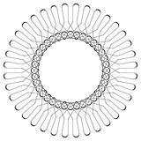 Geometrisches Kreismuster Abstraktes Motiv mit dem Ausstrahlen von inters Stockfotos