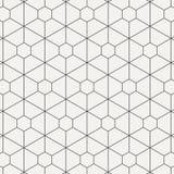 Geometrisches lineares Vektormuster, dünne Linie Hexagon und Paralleltrapezform wiederholend Grafik sauber für den Druck, Gewebe, vektor abbildung
