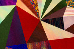 Geometrisches mehrfarbiges Muster der abstrakten Dreiecke, Mosaik Lizenzfreie Stockbilder