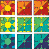 Geometrisches mit Blumenmuster Lizenzfreies Stockbild