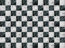 Geometrisches Mosaik in Form eines Schachbretts hergestellt vom Marmorstein stockfotografie