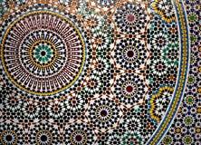 Geometrisches Mosaikdetail stockbild