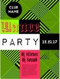 Geometrisches Musikparteiplakat Stockfotografie