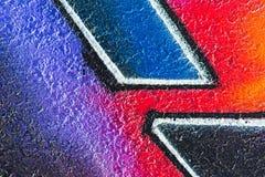 Geometrisches Muster auf rauem Beton Lizenzfreie Stockfotos